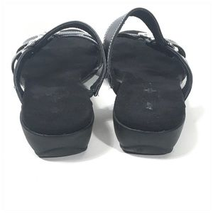 Air Supply Plus Shoes - Air Supply +Black Comfort Sandal Floral Medallion